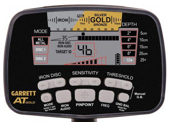 Caja de control Garrett AT Gold