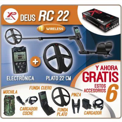 Detector de metales XP DEUS RC 22 con Electrónica