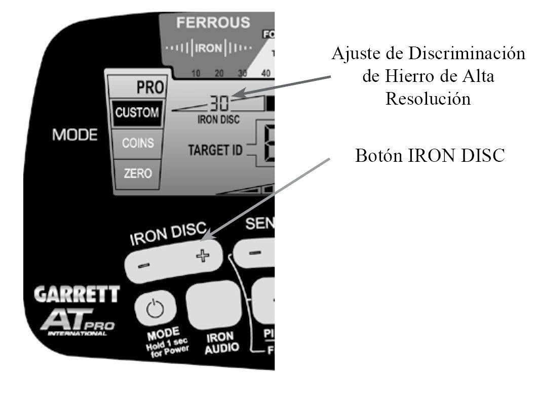 Discriminacion de hierro con Iron Disc