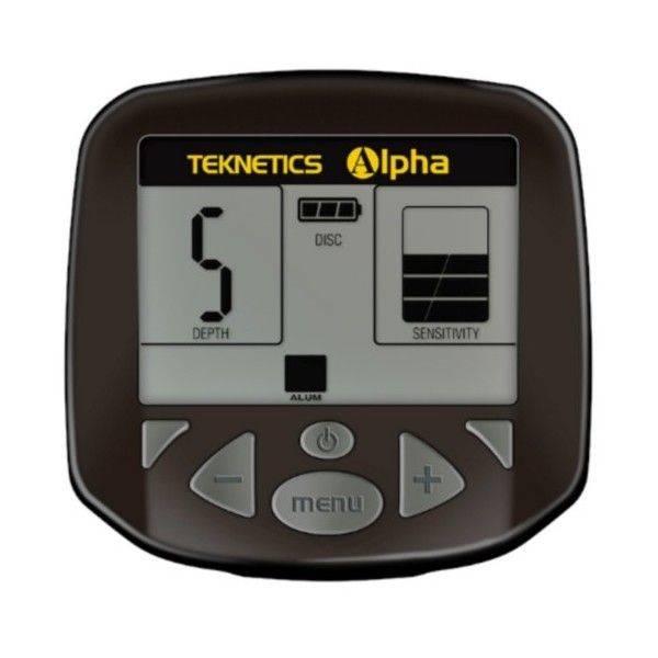 Panel de control del detector de metales Teknetics Alpha 2000