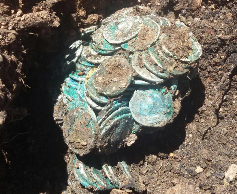 Encuentran monedas Romanas en Riotinto (Huelva)