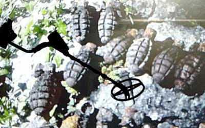TEDAX encuentra 18 granadas con un detector de metales