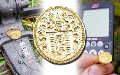 Encuentran un anillo de oro del siglo XVII con un detector de metales